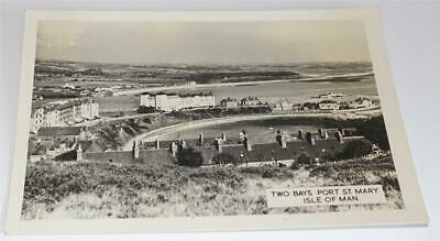 £1.99 • Buy Isle Of Man Port St Mary Two Bays Real Photo Postcard 1962     2290
