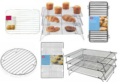 £3.49 • Buy Chrome Metal Wire Cake Biscuit Baking Cooling Stand Tray Rack