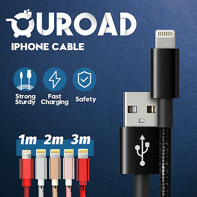 AU4.49 • Buy 1M 2M 3M Charger Cable Fast Charging USB Data Cord Apple IPhone IPad IPod Air