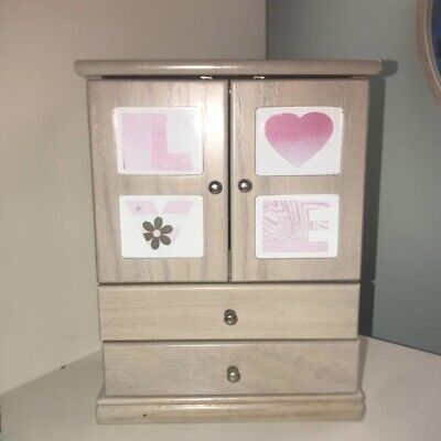 Wooden Jewellery Box Used Condition Photos Drawers Ring Holder Read Description • 15£