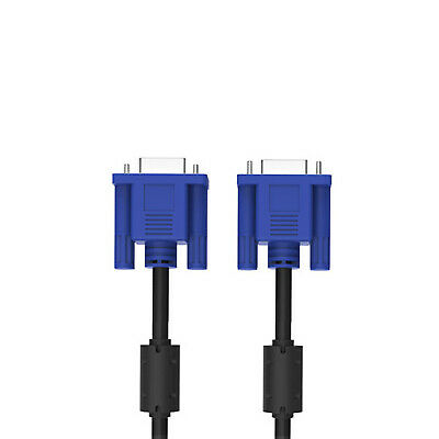 £2.99 • Buy 3 Meter VGA SVGA 15 Pin PC Computer Monitor LCD Extension Cable Male To Male