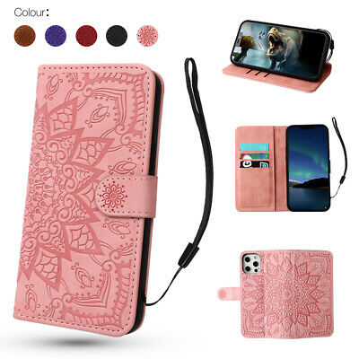 Wallet Case For IPhone 12 Pro Max XS XR SE 11 8 7 6s Leather Magnetic Flip Cover • 4.69£