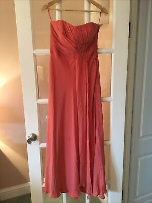 £20 • Buy Monsoon Size 12 Occasion Dress Coral Summer Maxi Long Special