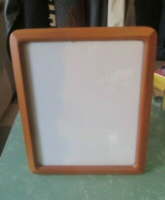 AU24.77 • Buy Teak Wood Photo Frame For 8 X 10 Picture Mid Century Modern Style Rounded Corner