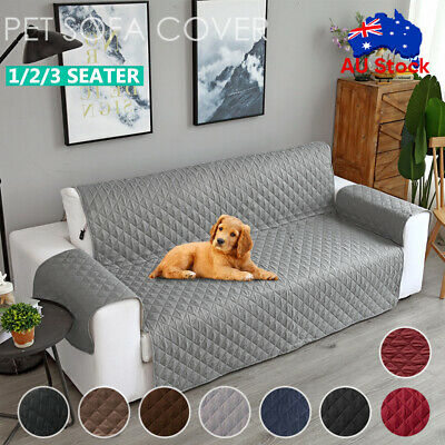 AU20.59 • Buy Sofa Cover Quilted Couch Covers Lounge Protector Slipcovers 1/2/3 Seater Pet Dog