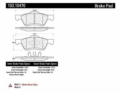 $31.99 • Buy Centric Parts 103.10470 Disc Brake Pad For 05-12 Escape Mariner Tribute