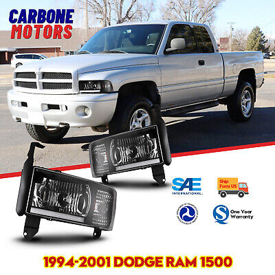 $86.15 • Buy LED Headlights Fits 94-01 Dodge Ram 1500 2500 3500 DRL Front Lamps Black Replace