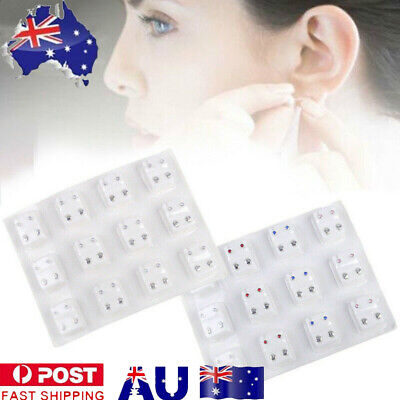 AU9.28 • Buy 12Pairs Medical Earrings Piercing Tool Kits Ear Stud Surgical Steel Ear Studs AU