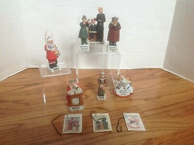 $ CDN57.73 • Buy Lot 7 NORMAN ROCKWELL Ornaments & Figurine By Dave Grossman JAPAN Santa & More!