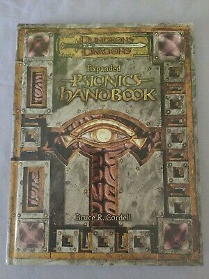 AU175 • Buy Dungeons & Dragons 3rd Edition PSIONICS Hand Book 3.5 D&d 2004 WIZARDS COAST Hc