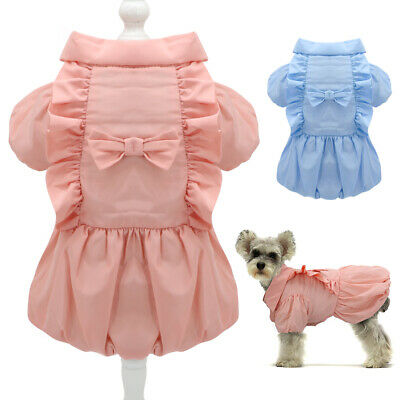 Dog Clothes Dresses For Small Girl Dogs Pet Puppy Coats Winter Warm Apparel Cute • 7.30£