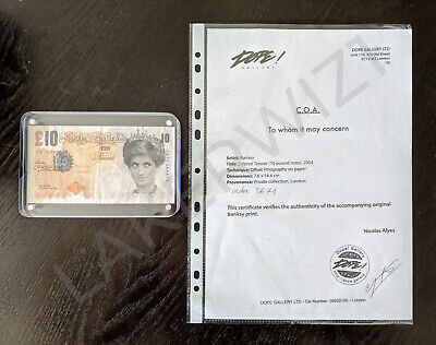 £1271.96 • Buy Banksy Di-Faced Tenner Authentic COA + Receipt + Provenance From Dope! Gallery