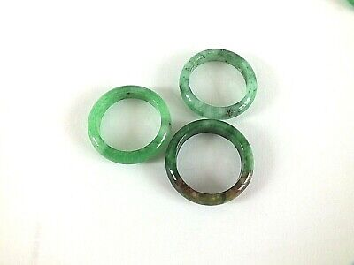 £9.49 • Buy CHINESE GREEN JADE BAND 5mm RING FOR MEN WOMEN UK SIZE R 8.5 18 58 JEWELLERY
