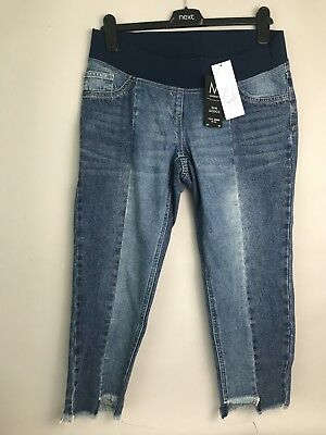 £12.99 • Buy NEXT Ladies Materity Slim Slouch Jeans Over The Bump Size 8S ⭐️BNWT⭐️
