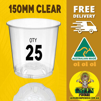 AU25.95 • Buy 50x Teku Plastic Clear Pots 90mm - Great For Seedlings Herb Orchids Uv Resistant