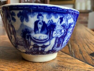 £28 • Buy Early 19th Century Transfer Printed Pearlware Blue And White Tea Cup/Bowl