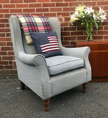 £100 • Buy M&S Highland WINGBACK ARMCHAIR Grey Accent Reading Chair RRP £650