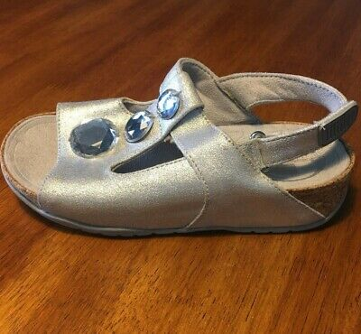 £9.41 • Buy FitFlop Girls Silver Glitter Sandals Size 1 M US Eur 32 227-011