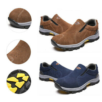 AU46.19 • Buy Women / Men Steel Toe Cap Safety Boots Slip On Work Shoes Leather Breathable New