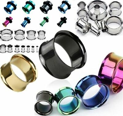 £3.95 • Buy 1 Pair Stainless Surgical Steel Ear Tunnels Stretchers Taper Body Jewellery Plug