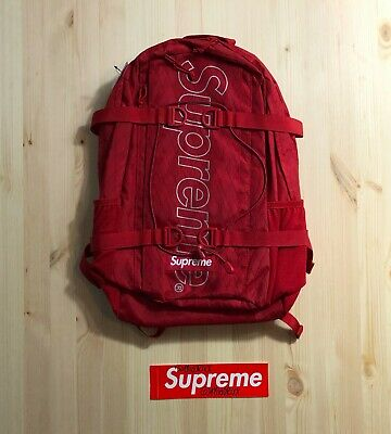$ CDN460 • Buy Supreme Backpack (FW18) Red Authentic Deadstock