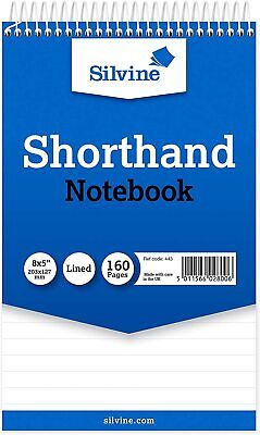 A5 Silvine Note Pad Sprial  Reporter's  Shorthand Notebook  Office/School  • 4.29£
