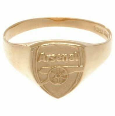 £269.89 • Buy Arsenal FC 9ct Gold Crest Ring Small (R) Medium (U) Large (X)  OFFICIAL ITEM
