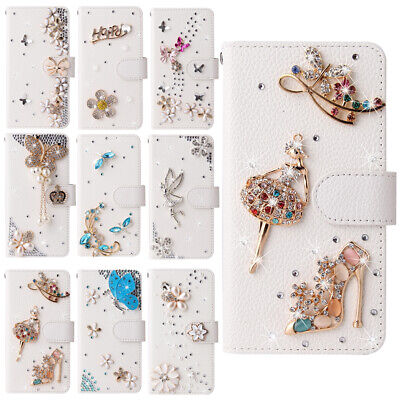 AU14.71 • Buy For IPhone 12 11 Pro XS Max XR 7 8 Bling Diamond  Rhinestone Wallet Leather Case