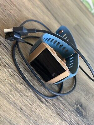 $ CDN112.25 • Buy Fitbit Ionic Fitness Smartwatch - Blue And Burnt Orange With Charging Cable.