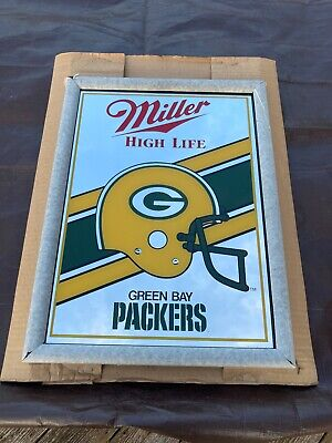 $109.30 • Buy Green Bay Packers Miller High Life Beer Bar Mirror New