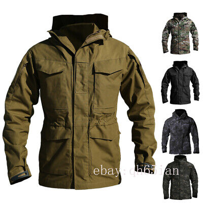 $67.09 • Buy Army Tactical Military Mens Jackets Combat M65 Field Jacket Outdoor Waterproof