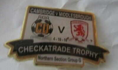 £5.50 • Buy Cambridge United Middlesbrough Limited Edition Checkatrade Trophy 2016 Badge