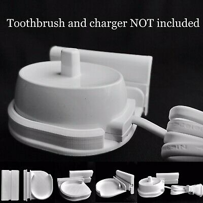 AU11.02 • Buy Stick On Wall Bracket - Braun Oral B Charger Stand Electric Toothbrush Adhesive