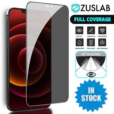 AU9.95 • Buy For IPhone 13 12 11 Pro Max Mini Zuslab Privacy Tempered Glass Screen Protector