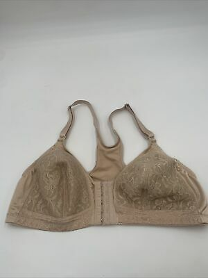 AU12.13 • Buy Glamorise Size 40 A Beige Full Coverage Wireless Womens Bra