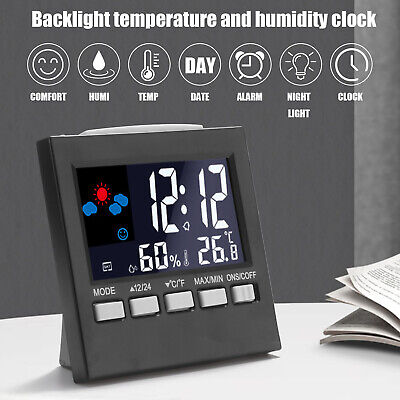 £8.69 • Buy LED Digital LCD Display Alarm Clock With Temperature Calendar Weather Station