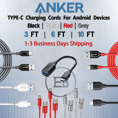 AU43.93 • Buy Anker 3FT / 6FT / 10FT TYPEC USBC Cable For Android Fits Samsung Lot Fast Charge
