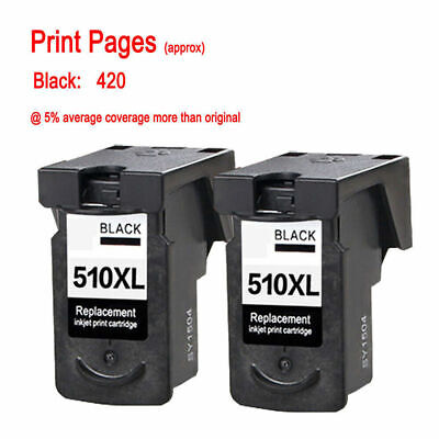 £20.61 • Buy 2 Black Ink Cartridge For Canon PG510 Pixma MP495 IP2700 MP270 MP280 MP480