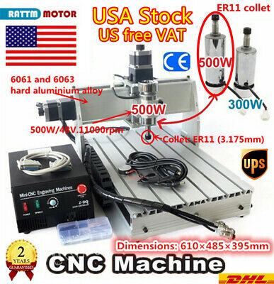 $665 • Buy 3 Axis CNC Router 3040Z-DQ 500W Mach3 Drilling Engraver Milling Machine 110V『US』