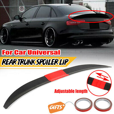 $36.68 • Buy Adjustable Rear Trunk Spoiler Lip Wing Unpainted Black For Car Sedan Universal