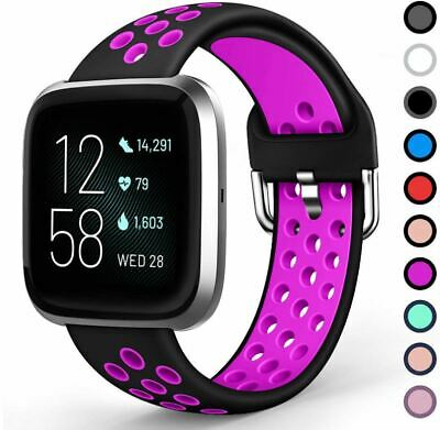$ CDN5.97 • Buy Replacement Band Strap For Fitbit Versa, Versa 2, Versa Lite Vent LARGE / SMALL