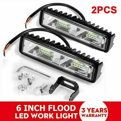 AU16.89 • Buy Pair 6inch Cree LED Work Light Bar Flood Beam Lamp Reverse DRL Offroad SUV