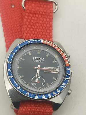 $ CDN606.58 • Buy VINTAGE 70'S SEIKO CHRONOGRAPH 6139-6002 PEPSI POGUE WATER 70m RESIST