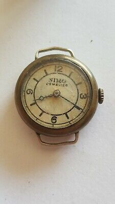 $ CDN73.07 • Buy VINTAGE RARE Swiss Made Watch 15 Jewels Rubis Military WWII Watch TRENCH