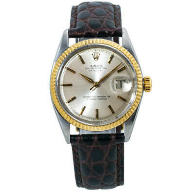$ CDN4603.91 • Buy Rolex Datejust 1601 Silver Dial 14kt Two Tone Automatic Mens Watch 36mm