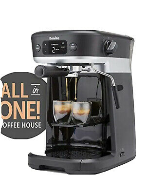 £80 • Buy Breville All In One Coffee House Espresso Filter & Pods Mahine With Milk Frother