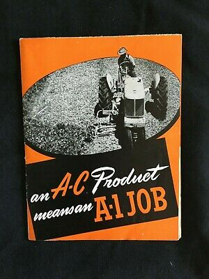 AU101.91 • Buy 1946 ALLIS-CHALMERS Tractor Implements Dealership Fold-Out Brochure / POSTER