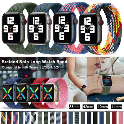 $ CDN7.91 • Buy Nylon Woven Loop Strap IWatch Band For Apple Watch Series 6 5 4 3 2 1 38/40/44mm