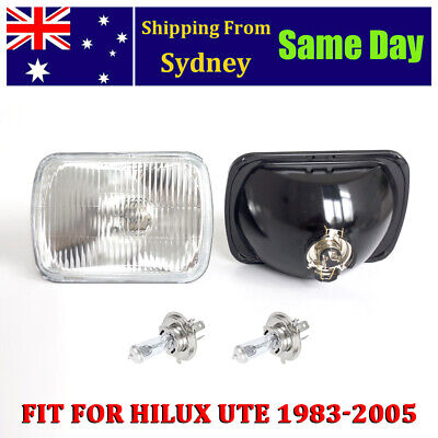 AU30.40 • Buy Pair  5x7  H4 Headlight Upgrade Kit For Hilux Ute 60/55w Rectangle Headlamp