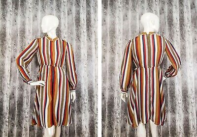 £24.99 • Buy By Ti Mo Oslo-Norway Womens Striped Multicoloured Dress Viscose Size S